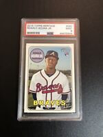 2018 Ronald Acuna Jr. #580 Topps Heritage Rookie Card RC PSA 9 Atlanta Braves b