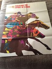 "Us Postal Service 1974 Horse Racing Poster ""Saluting the Sport of Kings"""