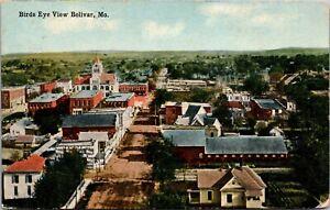 Postcard Birds Eye View of Bolivar, Missouri~136187