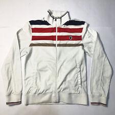 Ben Sherman White Zip Track Jacket Men's M Medium punk skin oi ska rudeboy
