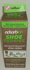 Adsorbion SHOE FRESHENER Eliminates & Helps Prevent Shoe Odors 1 Pair New In Box