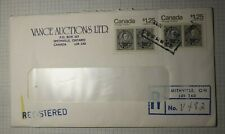 Canada Registered Cover Smithville 1983 Vance Auctions Capex 1978 Used Sc#756