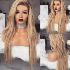 """28"""" Women Ladies Long Blonde Ombre Curly Wig Natural Full Wigs Wavy Hair Party"""