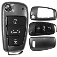 Klapp Schlüssel Cover Hülle Grau AUDI A1 8X S1 A3 8P S3 A6 4F S6 Q7