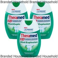 3 x THERAMED TOOTHPASTE MOUTHRINSE MINT EXPLOSION 75ML EXP 05/20