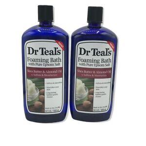 Dr Teal's Epsom Salt Moisturizing Shea Butter and Almond Oil Foaming Bath 2pack