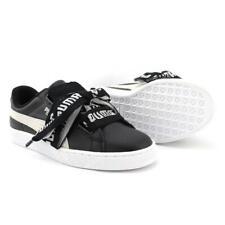 Puma Basket Heart De Wn's 364082 01 Women's Shoes Leather Sneaker Black