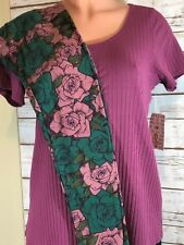 LulaRoe 2 PC OUTFIT S Small Classic T & OS One Size Leggings - ROSES - FALL WOW!