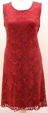 New Womens Ladies Sequin Lace Lined Flapper Top Dress Xmas Party Plus Size