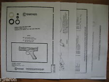 Crosman 600 677 CO2 Pistol Seal Reseal Kit - Exploded View - Parts List & Guide