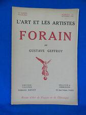 L'ART ET LES ARTISTES FORAIN 1921