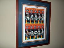 Miami Dolphins 1994 Uncut Signed Framed Ticket Sheet 10 Greatest Dolphins Marino