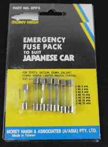 EMERGENCY FUSE PACK - to suit Japanese Car  (x2) packs - EFP5