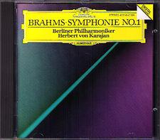 Herbert von KARAJAN BRAHMS Symphony No.1 Berliner Philharmoniker PDO CD Sinfonie