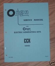 ONAN CCK ( spec a-k ) SERVICE MANUAL  PUBLICATION. # 927-0500  (1973)