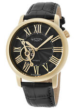 NEW RotarY GLE000019-10 Open Heart Skeleton  Automatic Yellow Gold Ret$995