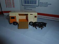 VTG 1977 LESNEY MATCHBOX SUPERFAST #40 HORSE BOX TRANSPORTER TRUCK W BULL FIGURE