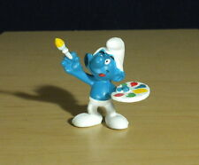 Smurfs Painter Smurf Painting Artist Figure Vintage Toy Art Figurine Peyo 20045