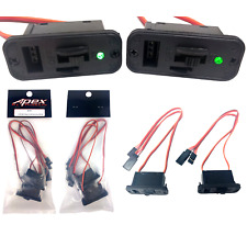 Apex RC Products 2 Pack - JR Style Heavy Duty On/Off Switch with Bright LED a...
