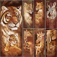 Large Full Drill 5D Diamonds Animal Embroidery Painting Cross Crafts Stitch