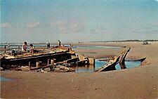 Vintage Chrome Postcard; Shipwreck Intrepid, Long Beach Peninsula WA Unposted