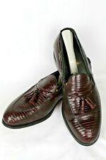 Foot-Joy Classics Vintage Men's Size 9.5 C Lizard Tassel Loafers Burgundy Usa