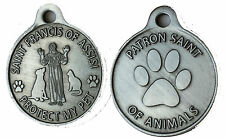 "Saint Francis of Assisi Patron Saint Of Pets Protect My Pet Dog Tag 1"" Charm"