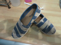 boys boy canvas shoes pumps size 13 next blue and beige