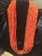 MULTI-STRAND NATURAL RED CORAL NECKLACE