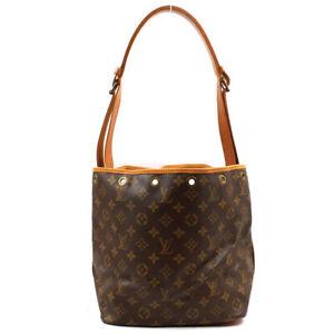 LOUIS VUITTON Petit Noe one belt Drawstring Shoulder Bag Monogram Brown M42226