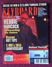 Keyboard Magazine Feb 2002 ~ HERBIE HANCOCK, Roland Fantom Review, EM-U 30 Years