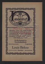 LEIPZIG, Werbung 1911, Louis Behne Im Handelshof Bijouterie-Luxus-Galanterie
