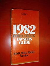 1982 FORD MEDIUM DUTY TRUCK 600 7000 SERIES ORIGINAL OWNERS MANUAL GUIDE 700 2ND
