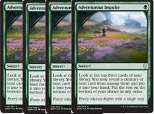 PRESALE- 4/27 -  4x Adventurous Impulse    -NM- Dominaria MTG Green Common
