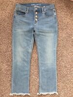 Old Navy Regular Women Mid Rise Flared Cropped Jeans 6 New