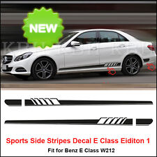 NEW Edition 1 Style Side Stripe Sticker for Mercedes Benz W212 E Class AMG Black