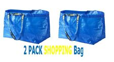 IKEA FRAKTA 2 LARGE 19 GALLON BLUE SHOPPING ,LAUNDRY BAG,