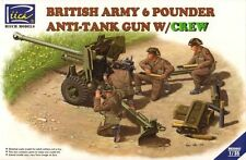 Riich Models 1/35 British Army 6 Pounder Infantry Anti-Tank Gun with Crew #35042