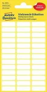 Avery Zweckform 3073 Haushaltsetiketten selbstklebend (20 x 8 mm, 234 Aufkleber