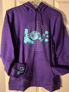 """Girls With Guns Clothing """"LOVE"""" HOODIE, warm & comfy for girls who hunt, Med"""