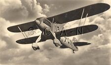 WWII German Large Luftwaffe RPPC- Airplane- Biplane- Heinkel He 51- In Flight