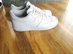 Nike Air Force 1 07 Triple White mens leather trainers, size 11 UK 315122-111