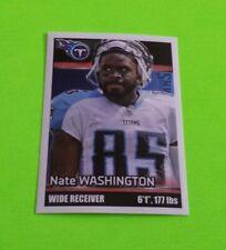 2012 Panini Football Nate Washington Sticker #161***Tennessee Titans***