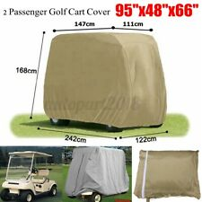 💦 2 Passenger Golf Cart Storage Rain Cover Dust Proof For Yamaha EZ GO Club Car