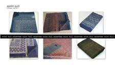 Indian multi Kantha Handmade Quilt Cotton Bedspread Bedding Blanket Twin Gudari