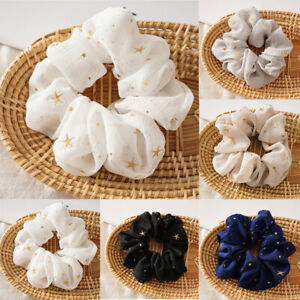 Fashion Stars Hair Rope Ring Elastic Scrunchies Chiffon Ponytail HolderHeadwear