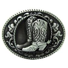 Cowboy Boots Belt Buckle Metal Western Country Men Oval Horse Riding Buckles