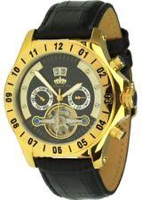 Lindberg & Sons modelo Python oro Automatikuhr fecha reloj hombre Box