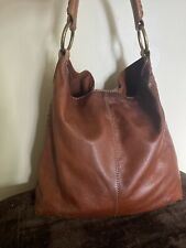 lucky brand whipstitch Slouch Hobo Purse Whiskey Pennys Bag Big Bang