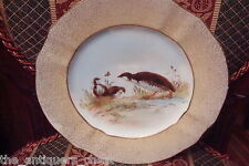 Limoges M Redon Bird plate with gold rim[41]